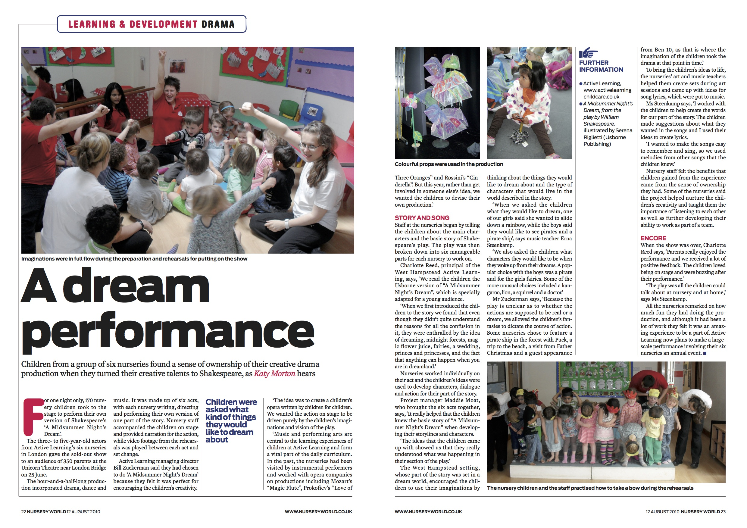 Nursery World MSND article August 2010